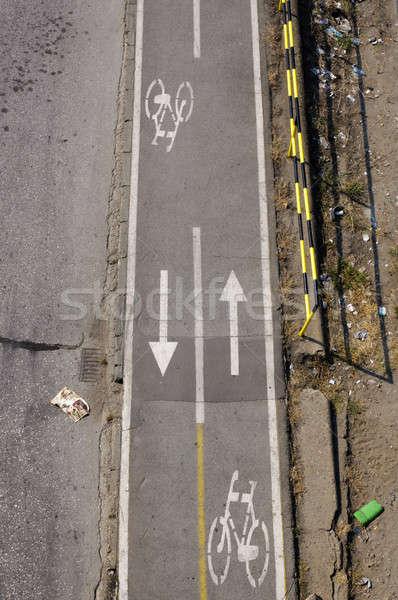 Vélo chemin Belgrade ville sport santé Photo stock © badmanproduction