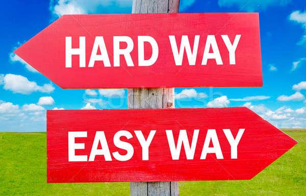 Hard and Easy way Stock photo © badmanproduction