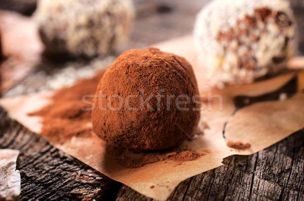 Sweet truffle Stock photo © badmanproduction