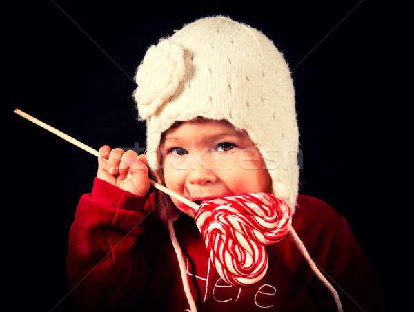 ストックフォト: 赤ちゃん · キャンディー · 開く · 美しい · 食べ