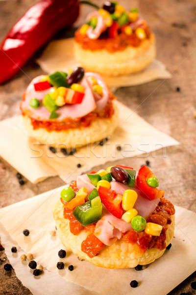 Sandviç seçici odak mini gıda Stok fotoğraf © badmanproduction