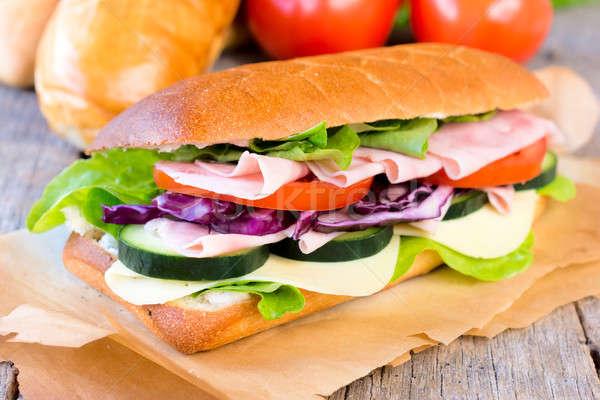 ストックフォト: サンドイッチ · おいしい · 詰まった · フォーカス · 春 · 食品