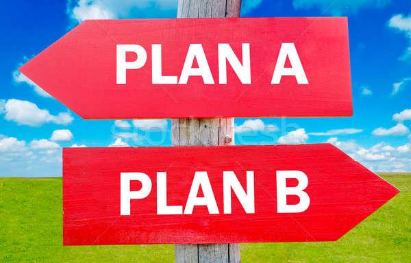 Foto d'archivio: Piano · plan · b · scelta · strategia · cambiare
