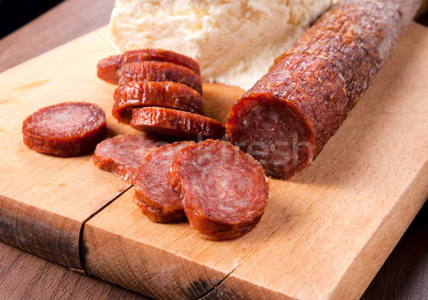 Serbian sausage Stock photo © badmanproduction