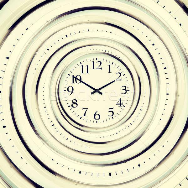 Relógio parede projeto tempo preto ver Foto stock © badmanproduction