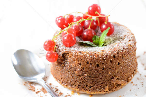 Lava cake Stock photo © badmanproduction