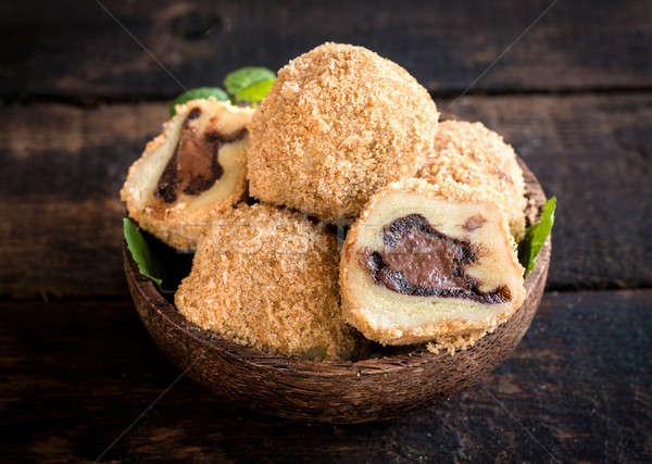 Homemade dumplings Stock photo © badmanproduction
