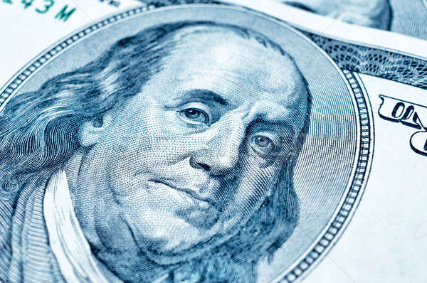 Benjamin Franklin on 100 dollar bill Stock photo © badmanproduction