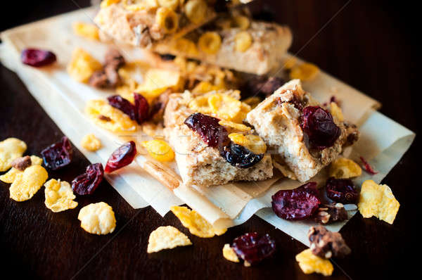 Cranberry and corn flakes Stock photo © badmanproduction