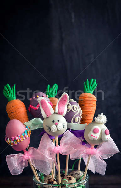 Sweet Easter cake pops Stock photo © badmanproduction