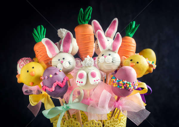 Easter cake pops Stock photo © badmanproduction