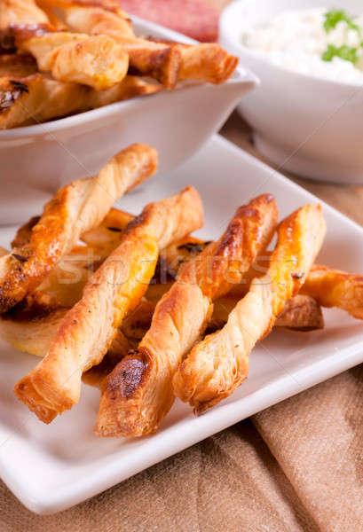 Kömény szelektív fókusz elöl sütemény étel kenyér Stock fotó © badmanproduction