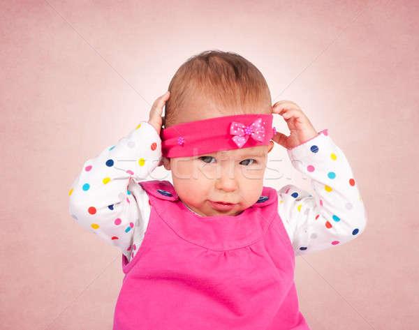 Baby girl Stock photo © badmanproduction