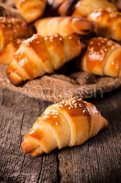 Stock photo: Mini croissant