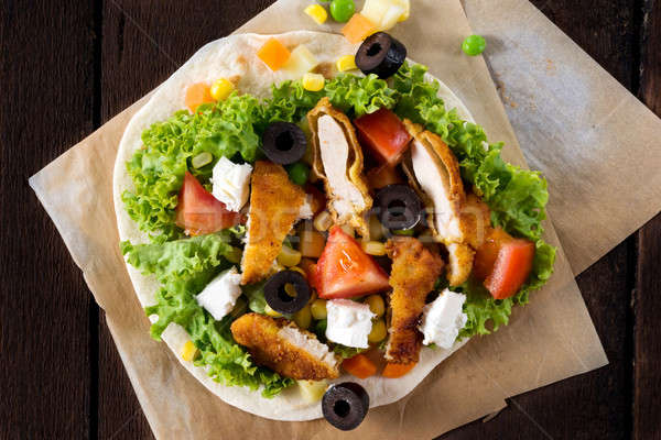 Chicken sandwich Stock photo © badmanproduction