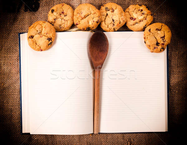 Cookbook and cookies Stock photo © badmanproduction
