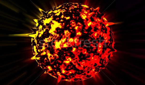 Planète star ciel feu résumé lumière Photo stock © badmanproduction