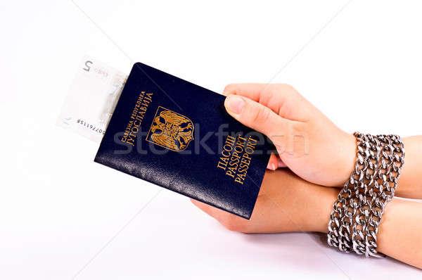 Passaport bribe Stock photo © badmanproduction