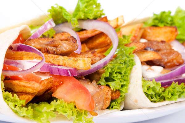 Tasty gyros Stock photo © badmanproduction