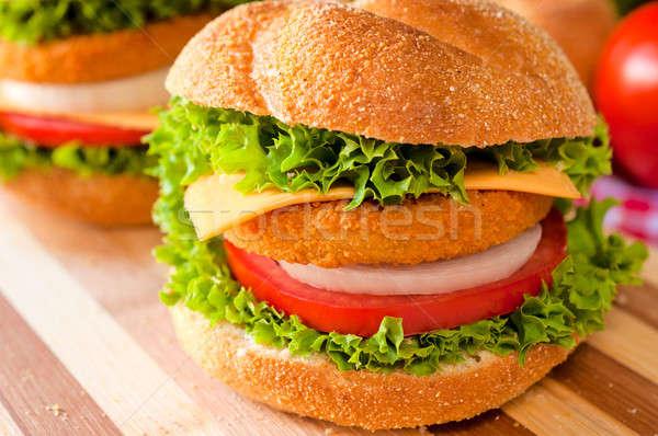 Сток-фото: большой · свежие · жареный · рыбы · здоровья · сыра