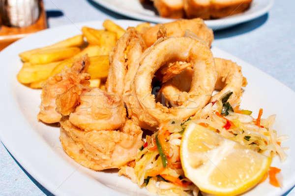 Fried calamari Stock photo © badmanproduction