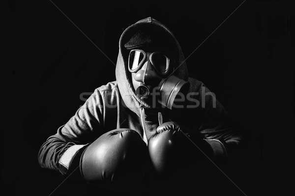 Angry man with mask Stock photo © badmanproduction