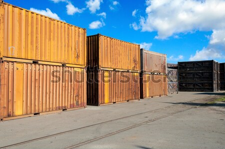 Old Container  Stock photo © badmanproduction