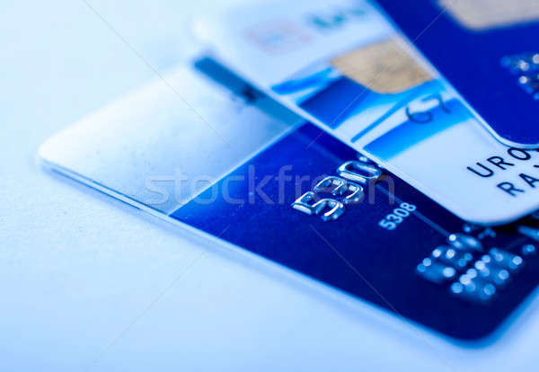 Close up to credit cards Stock photo © badmanproduction