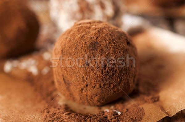 Foto stock: Caseiro · macro · doce · amor · chocolate · fundo