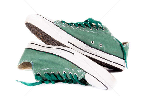 Green sneakers Stock photo © badmanproduction