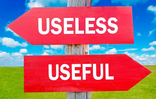 Useless and usefull Stock photo © badmanproduction
