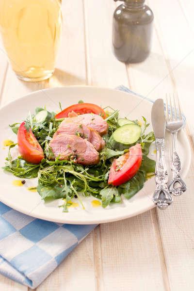 食事 時間 ジューシー 肉 野菜 プレート ストックフォト © badmanproduction