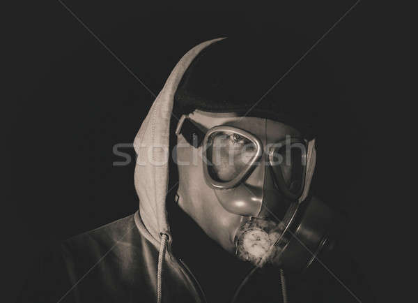 Man with gas mask Stock photo © badmanproduction