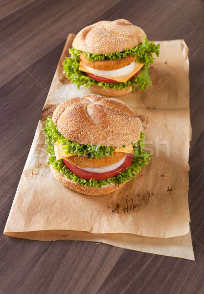 Two fish burgers Stock photo © badmanproduction