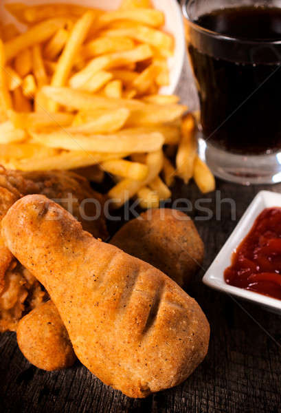Junk food meal Stock photo © badmanproduction