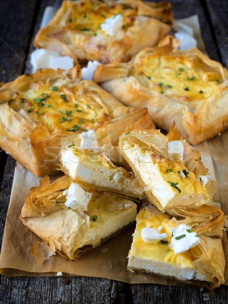 Serbian cheese pie Stock photo © badmanproduction