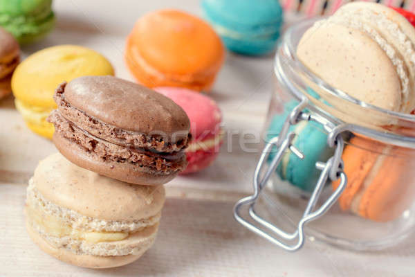 Macaroon cookies Stock photo © badmanproduction