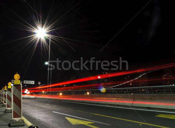 Estrada longa exposição negócio cidade paisagem fundo Foto stock © badmanproduction