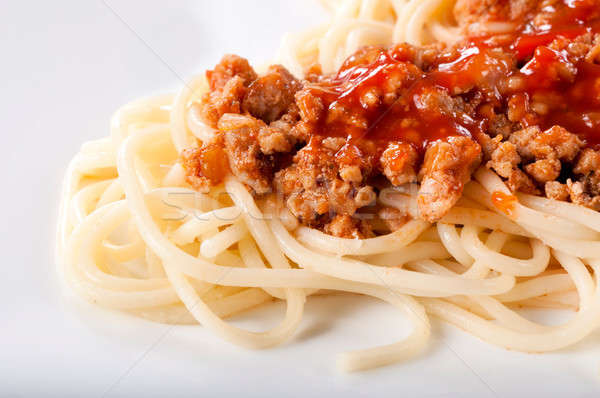 Spaghetti bolognese Stock photo © badmanproduction