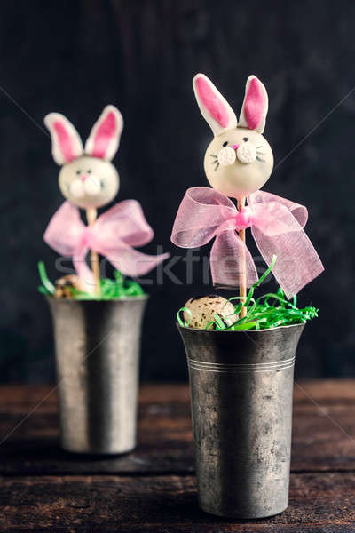 Bunny cake pops Stock photo © badmanproduction