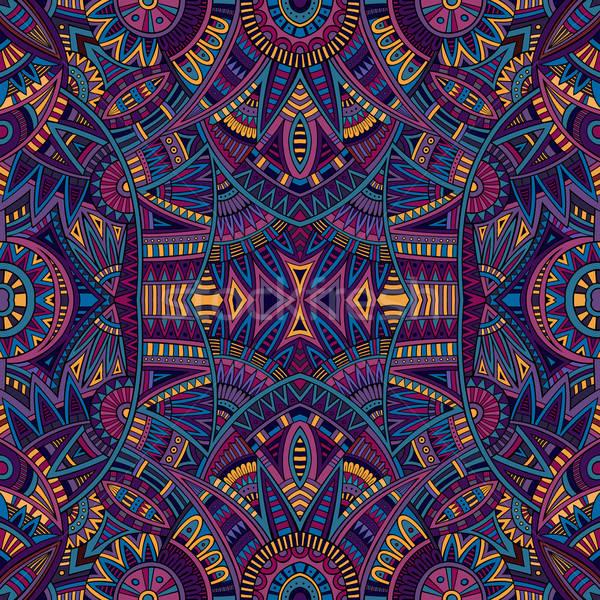 племенных этнических аннотация вектора цветок Сток-фото © balabolka