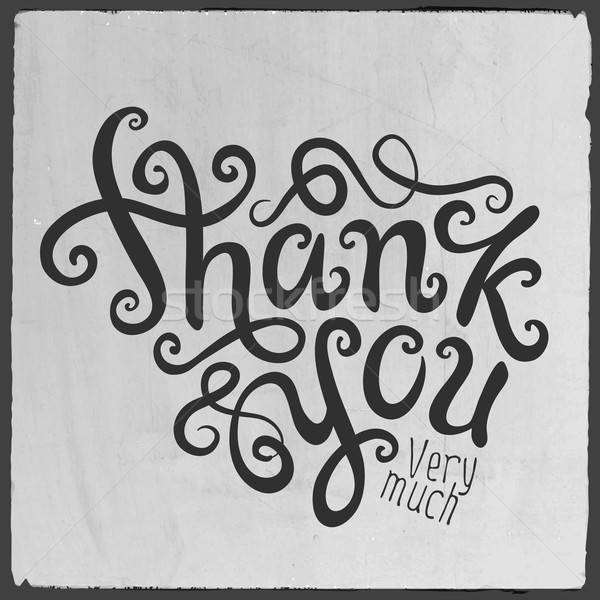 Thank You hand lettering Stock photo © balabolka