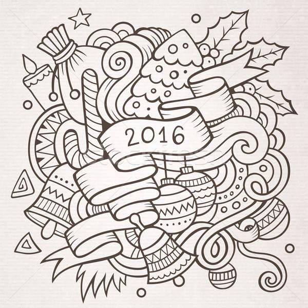 2016 Новый год Элементы вектора Сток-фото © balabolka