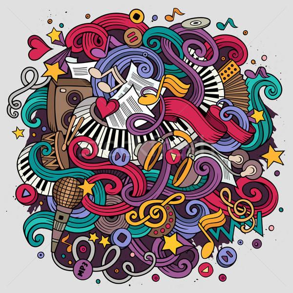 Cartoon scarabocchi musicale illustrazione colorato dettagliato Foto d'archivio © balabolka