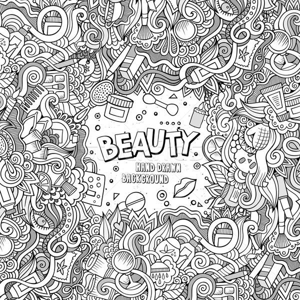 Cartoon косметики кадр дизайна Cute Сток-фото © balabolka