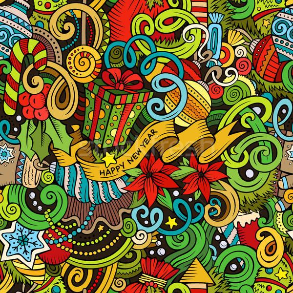 漫畫 可愛 塗鴉 新年 商業照片 © balabolka