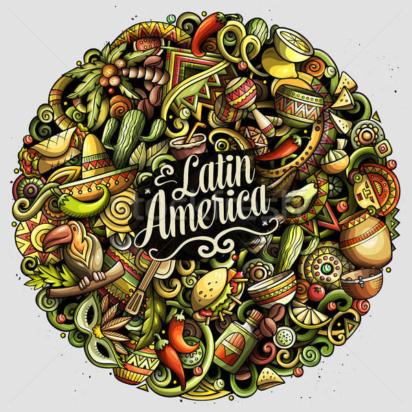 Desenho animado vetor américa latina ilustração colorido Foto stock © balabolka