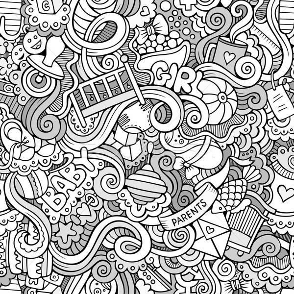 Desenho animado vetor rabisco crianças Foto stock © balabolka