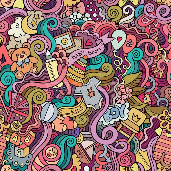 漫畫 向量 塗鴉 孩子 塗鴉 商業照片 © balabolka