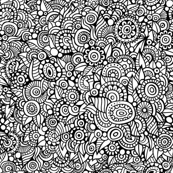 вектора бесшовный болван цветочный шаблон аннотация Сток-фото © balabolka